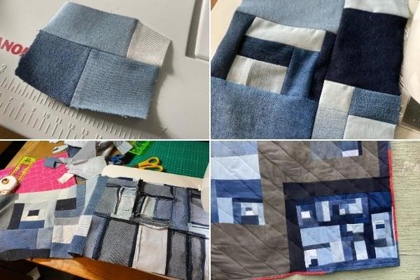 improv quilt back