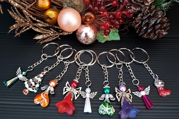Diy christmas angels - keychains