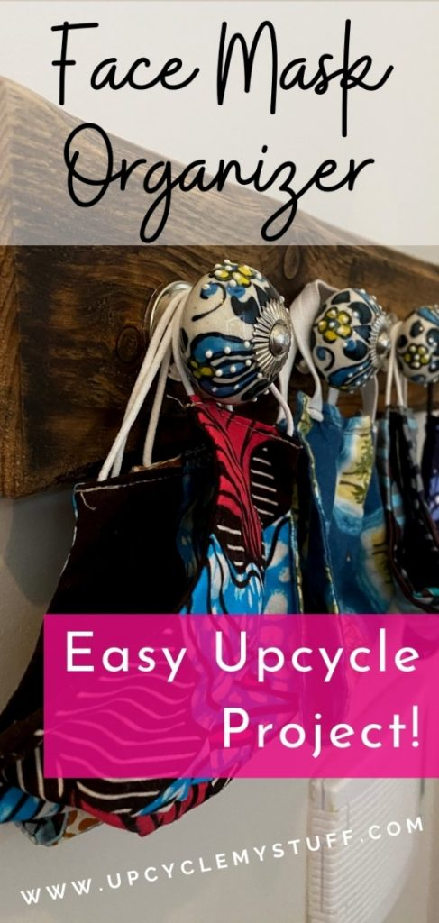 face mask organizer for entryway