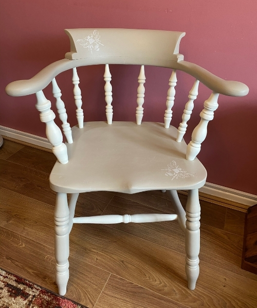 how to paint a wooden chair - captains chair after