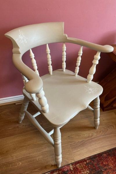 how to paint a wooden chair captains chair makeover