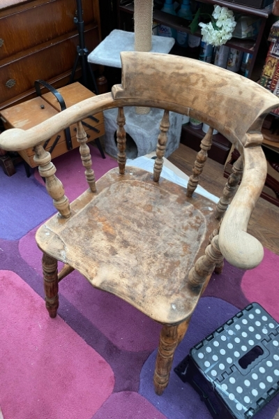how to paint a wooden chair - wood filler