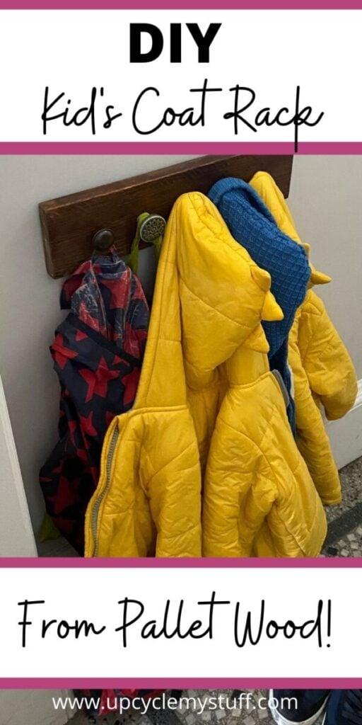 diy kids coat rack from pallet wood