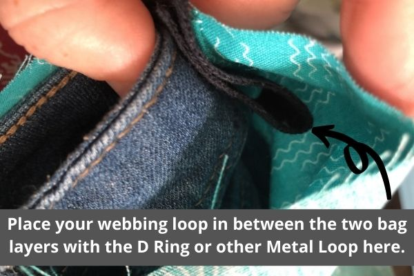 make a bag from a denim skirt - bag straps