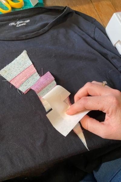 removing heat n bond paper applique