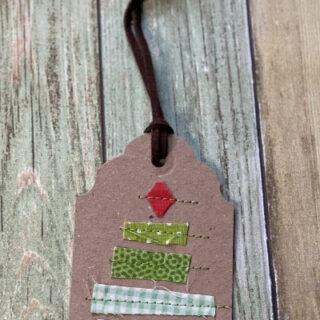 diy christmas tree gift tag
