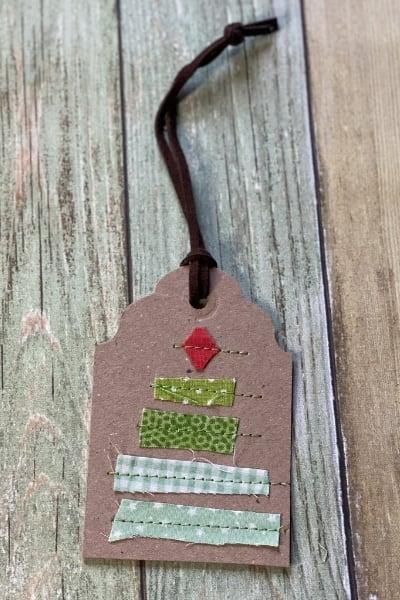 diy christmas tree gift tags