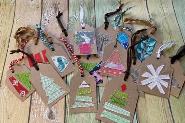 diy christmas gift tags hanging loops