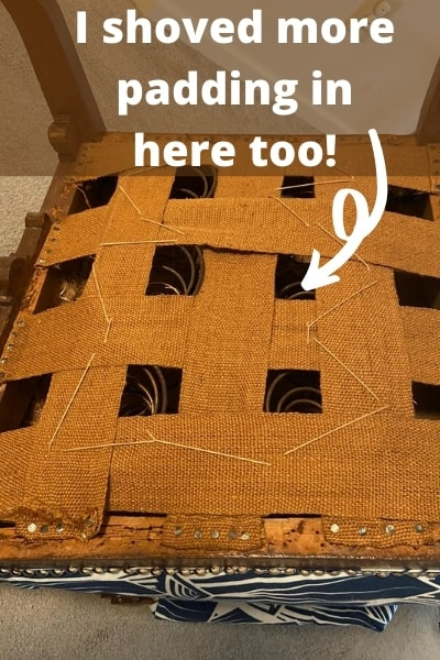 how to reupholster a dining chair - adding extra padding