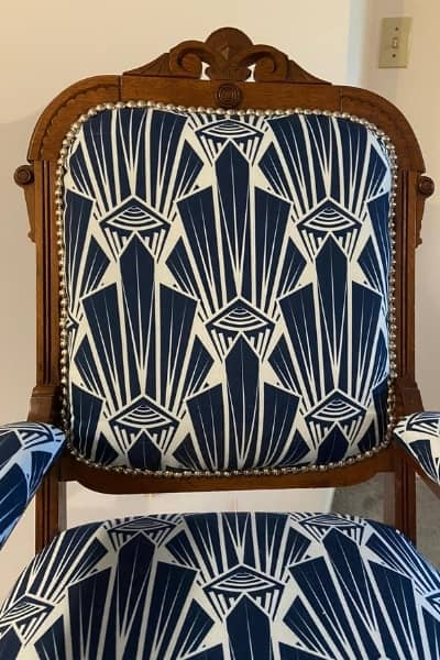 how to reupholster a dining chair - after