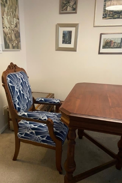 how to reupholster a dining chair seat and back