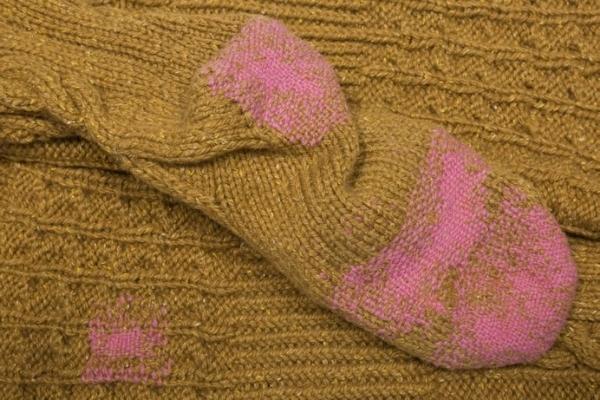 visible mending - darned socks