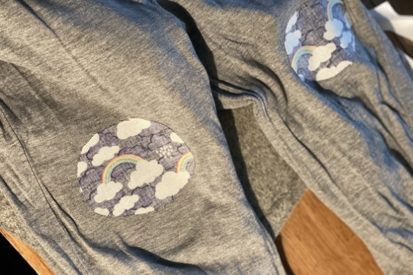 visible mending patches