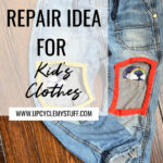 visible mending patching kid's clothes