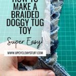 DIY dog toy from old jeans