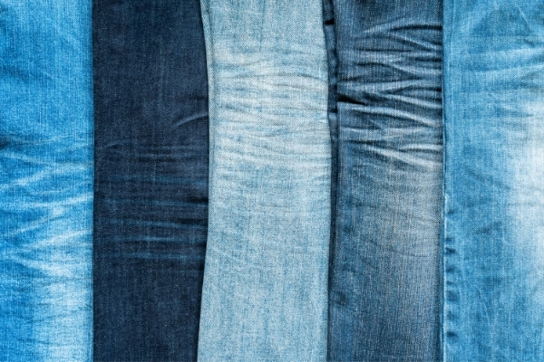 cutting up jeans for upcycling proejcts