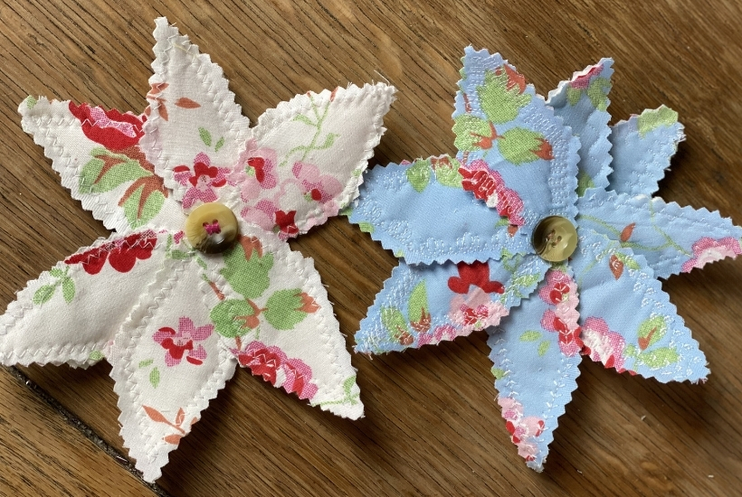 easy scrap fabric flowers