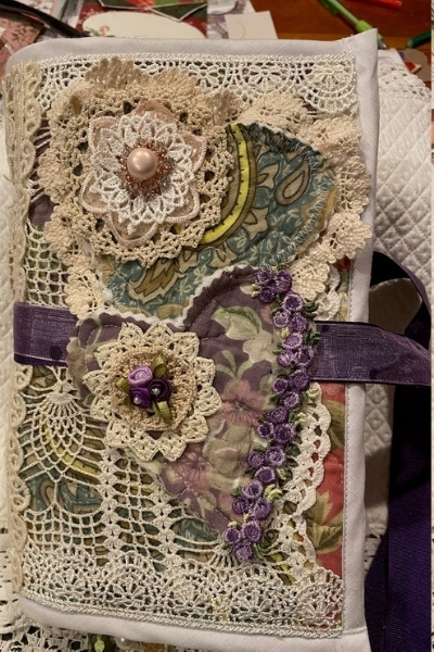 embellished junk journal wedding dress upcycle idea