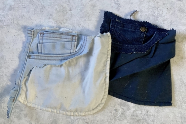 front pockets from old jeans