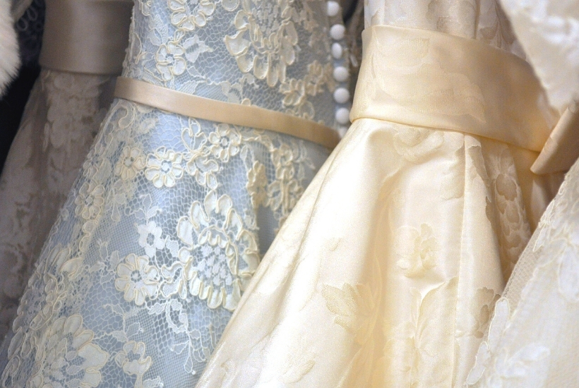 how to cut up a wedding dress for reuse