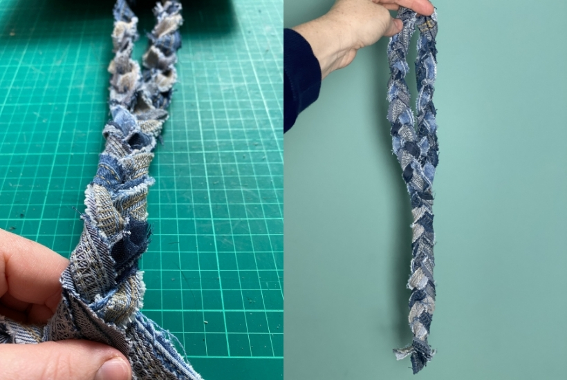 how to make a denim dog toy from old jeans