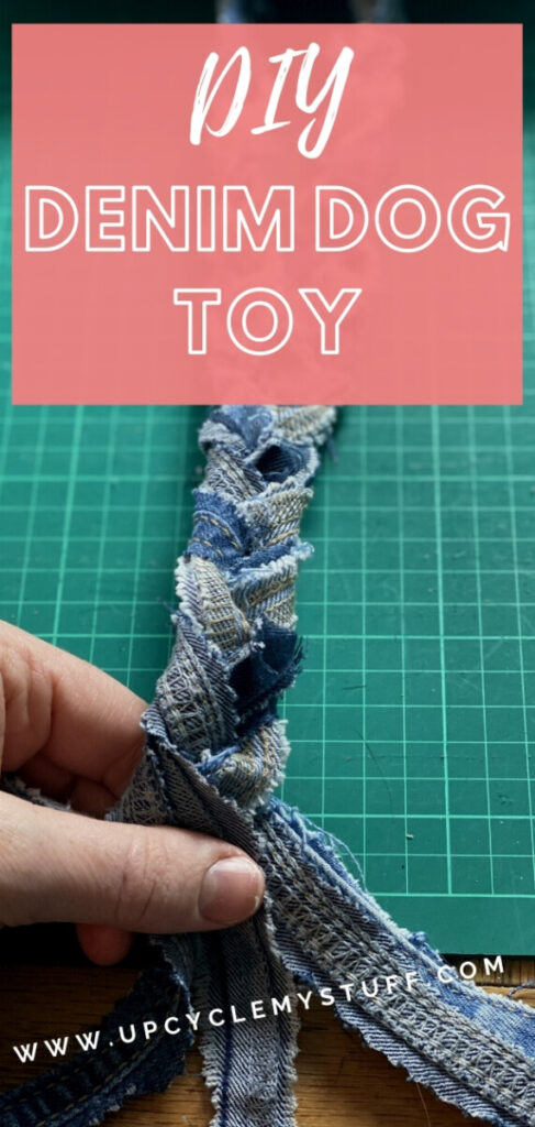 how to make dog toys out of denim