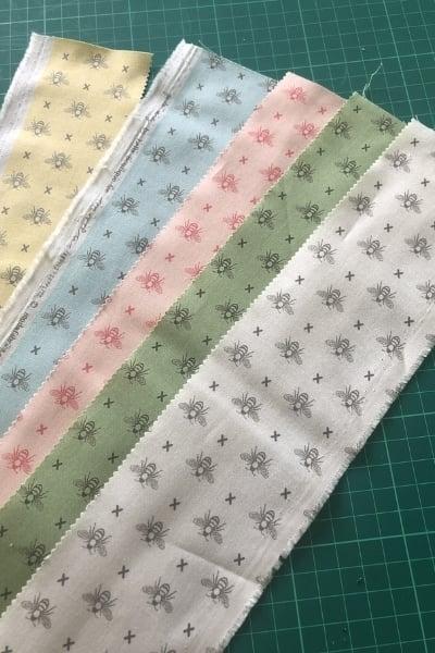bee fabric from moda scrap bag