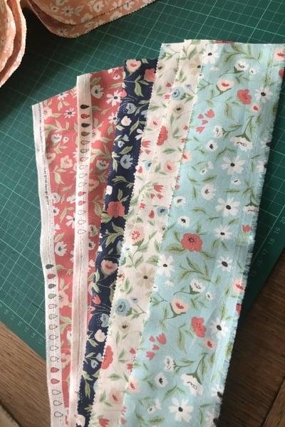 moda scrap bag floral fabric