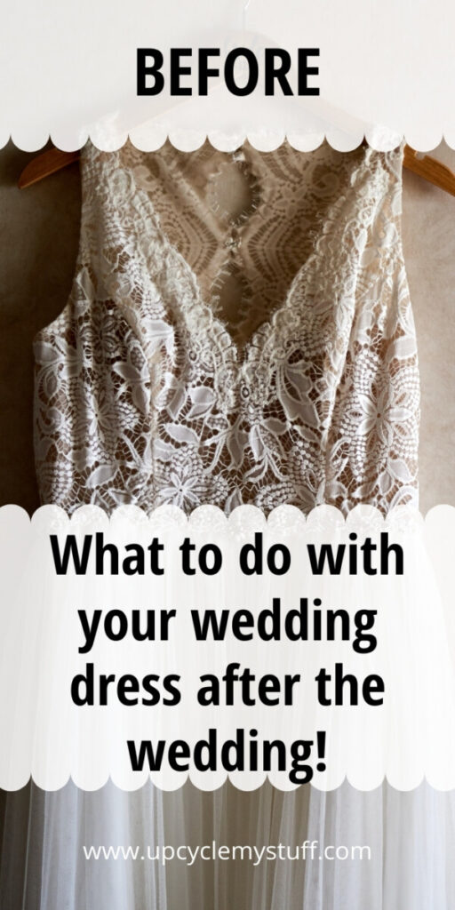 uses for old wedding dress