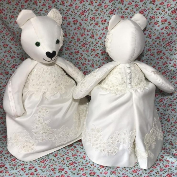 wedding dress memory bear
