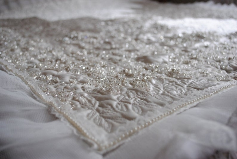 wedding dress memory quilt