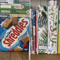 cereal box magazine holders