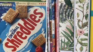 cereal box magazine holders