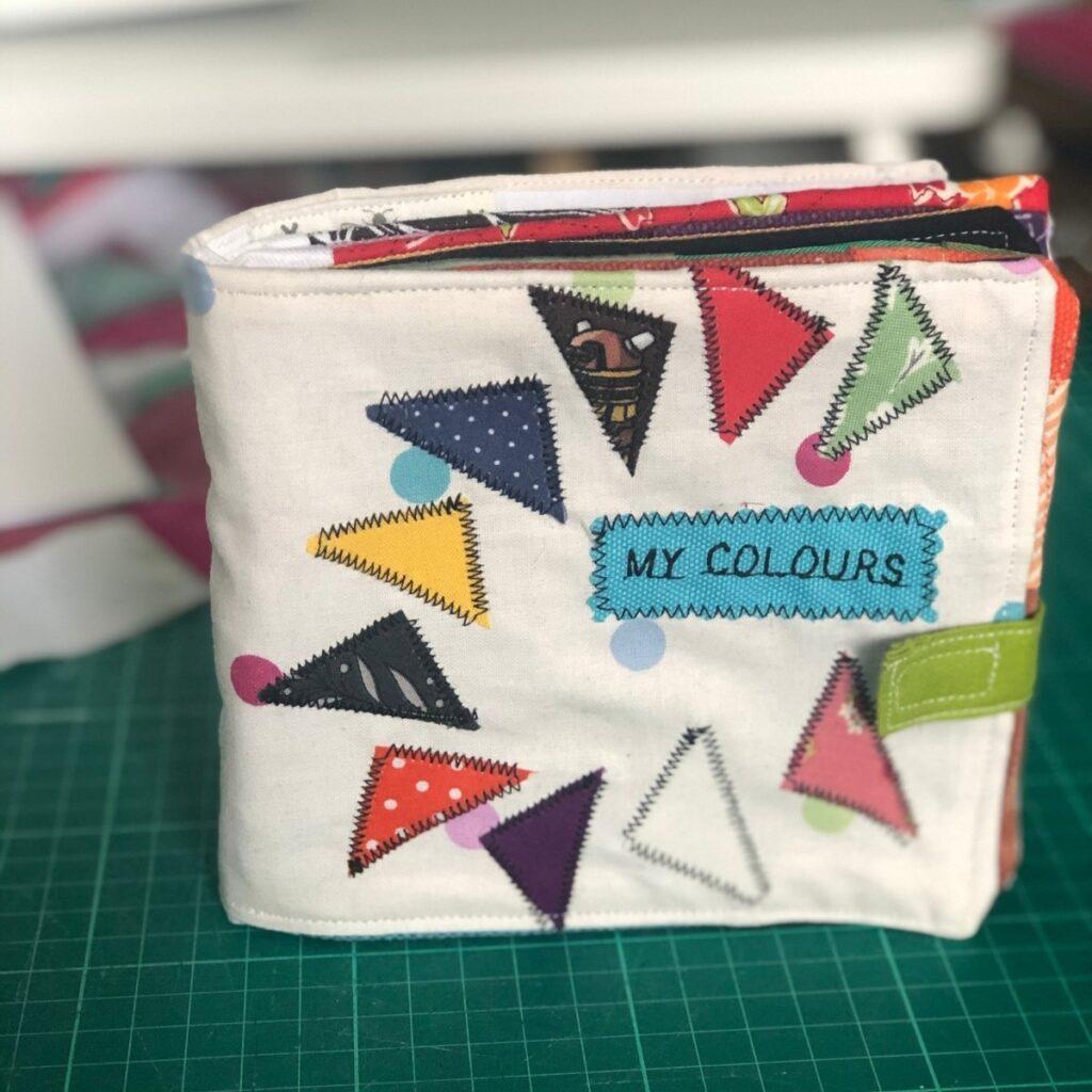 DIY fabric baby book