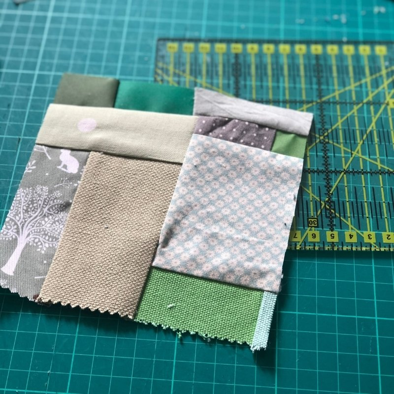 diy fabric baby book from scraps