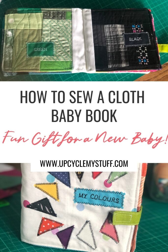 how to sew a cloth baby book