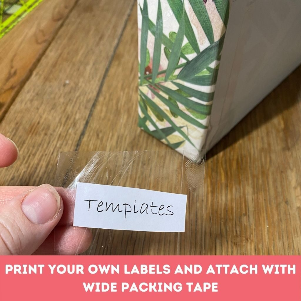 DIY Magazine holder labels