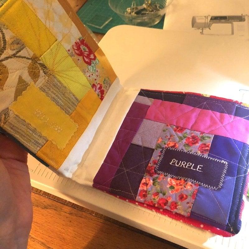 assembling fabric baby book