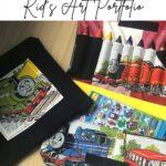 kid's art portfolio diy