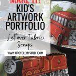 DIY kid's artwork protfolio