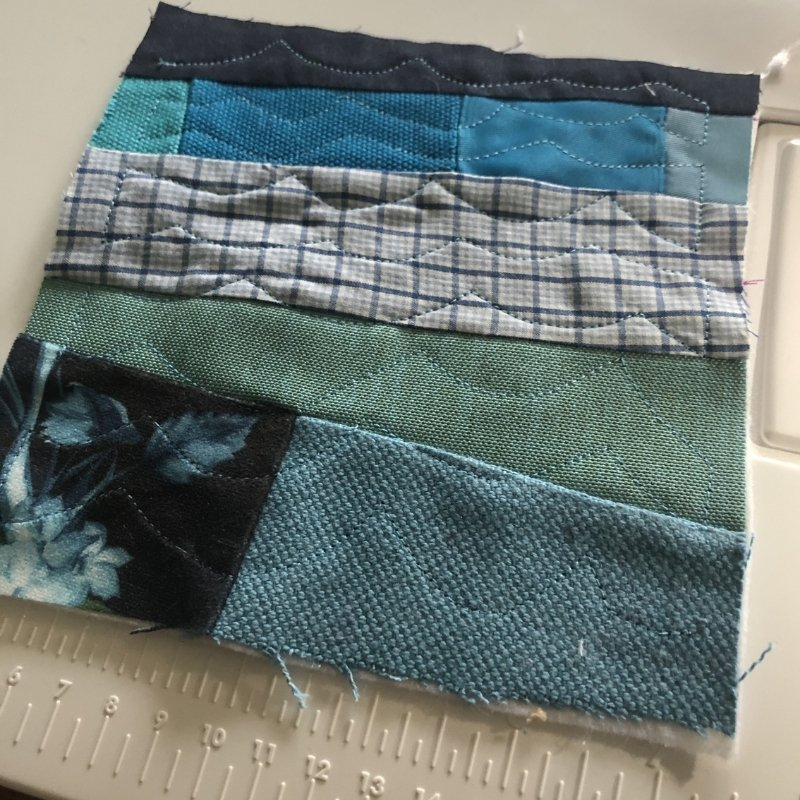 sew a fabric baby book - blue