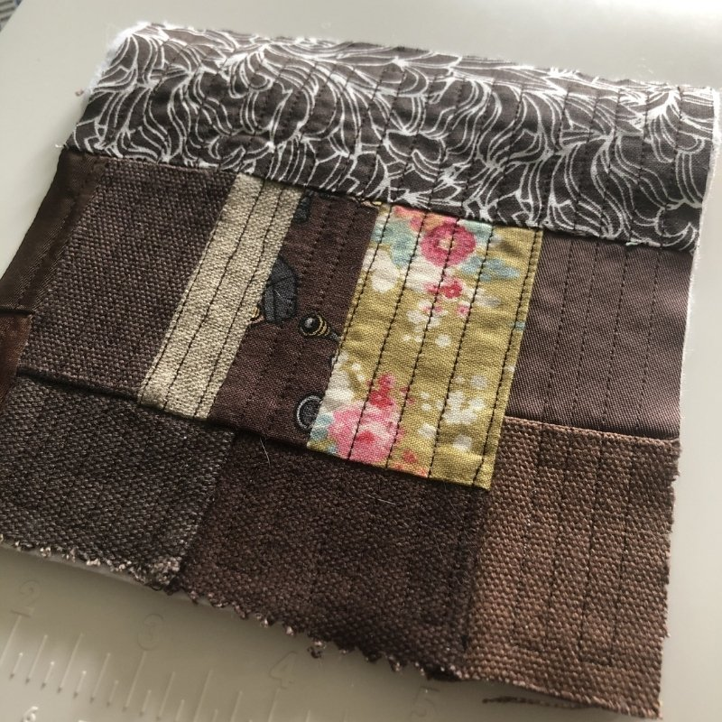 fabric baby book - brown