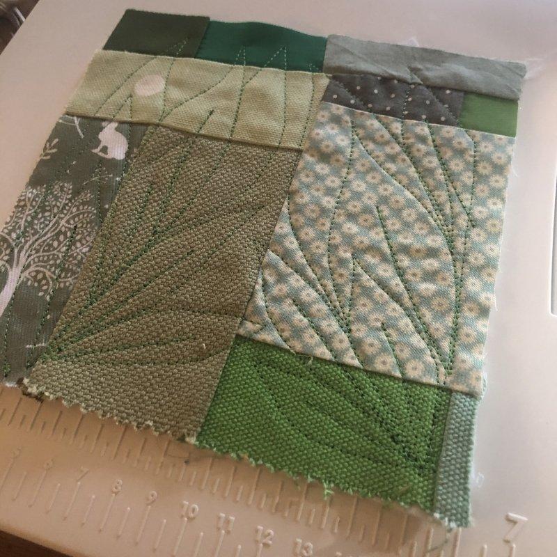 fabric baby book - green