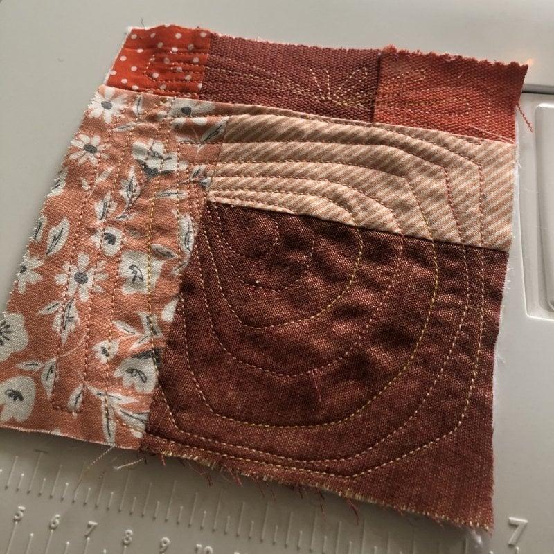 fabric baby book orange