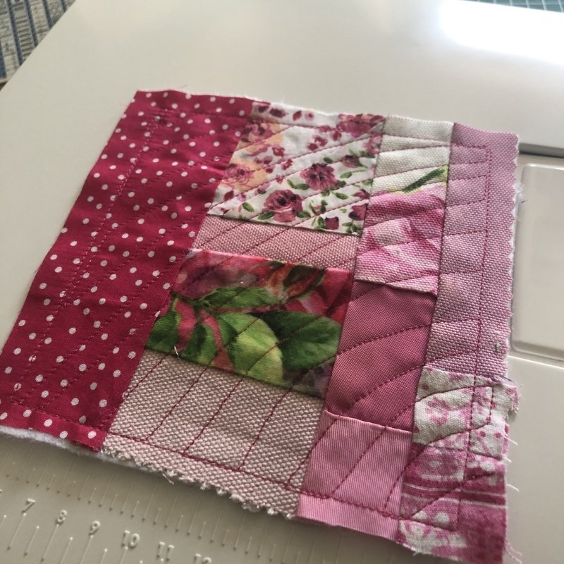 fabric baby book pink