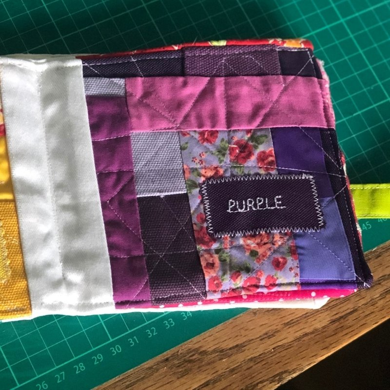 fabric baby book - purple