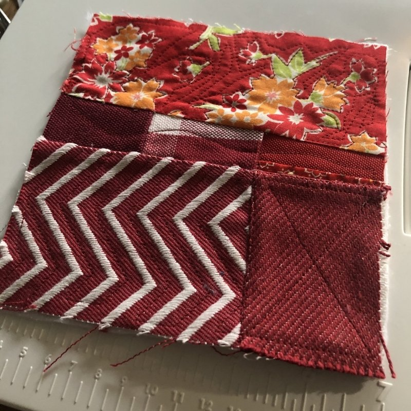 fabric baby book - red