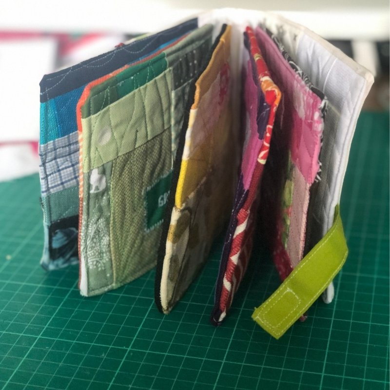 fabric baby book with strap