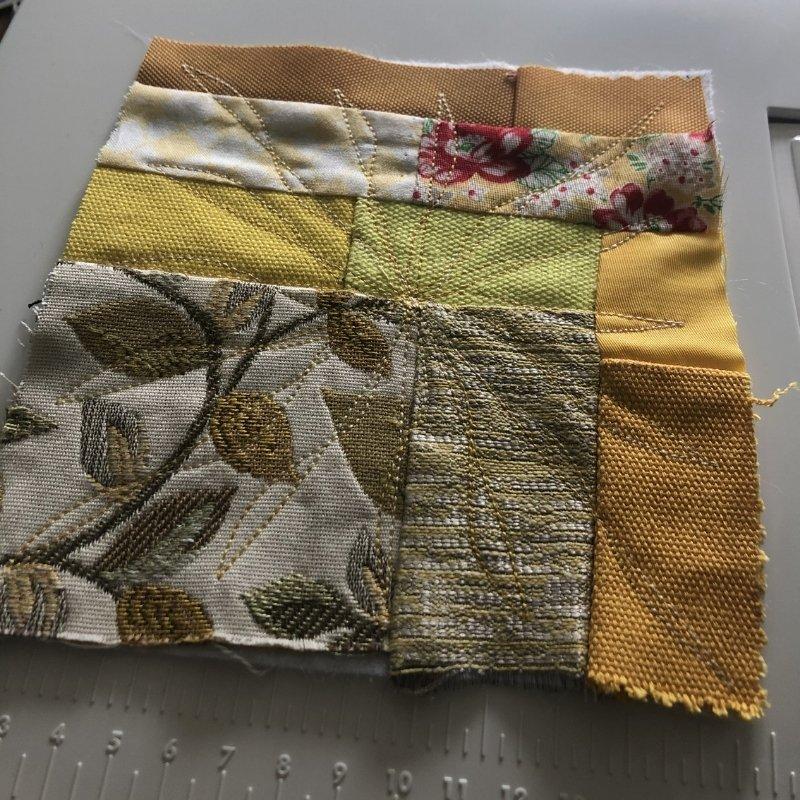 fabric baby book - yellow