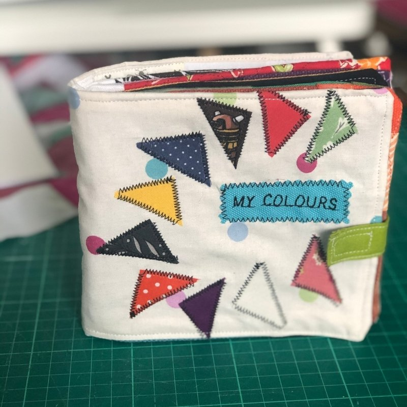 how to make a fabric baby book